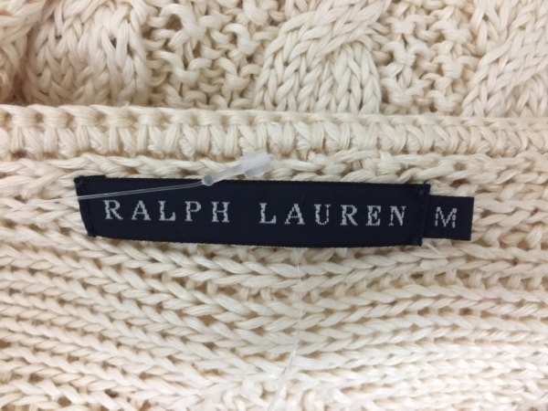RalphLauren(ラルフローレン) ワンピース サイズM レディース アイボリー ニット
