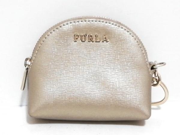 FURLA(フルラ) コインケース美品  ゴールド キーリング付き レザー