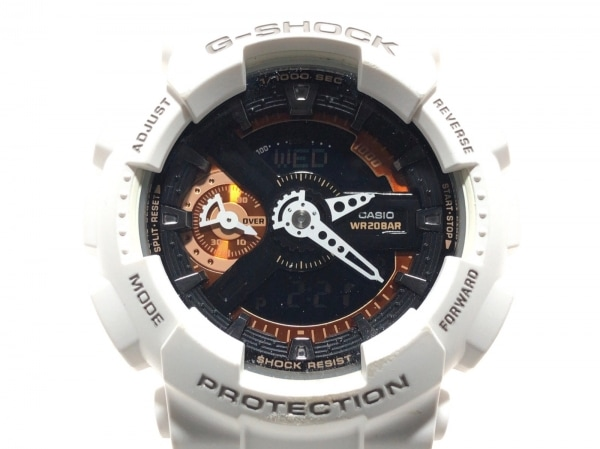 CASIO(カシオ) 腕時計 G-SHOCK GMA-S110CW ボーイズ ラバーベルト 黒×オレンジ