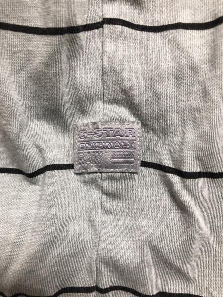 G-STAR RAW(ジースターロゥ) 半袖Tシャツ サイズM メンズ グレー×黒 ボーダー
