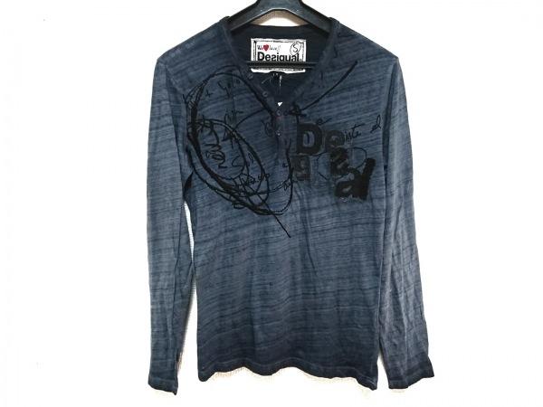 Desigual(デシグアル) 長袖カットソー サイズS メンズ ダークグレー×黒