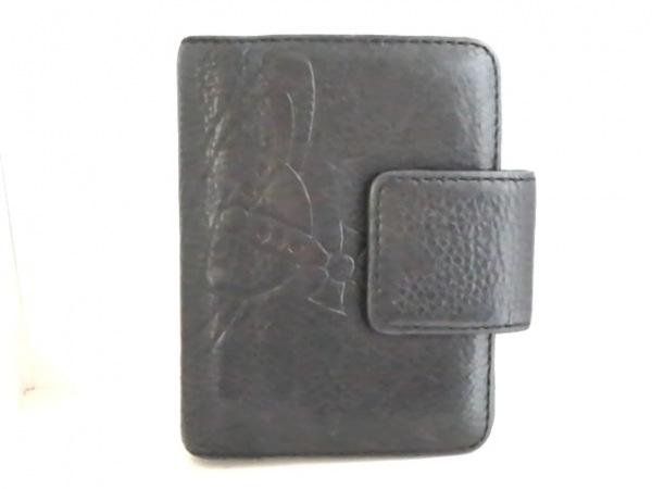 VivienneWestwood(ヴィヴィアンウエストウッド) 手帳 黒 レザー