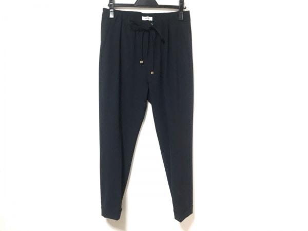 haunt(ハウント) パンツ サイズ38 M レディース美品  ネイビー ウエストゴム