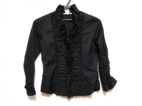 ナラカミーチェ 七分袖シャツブラウス サイズ0 XS レディース美品  黒 フリル