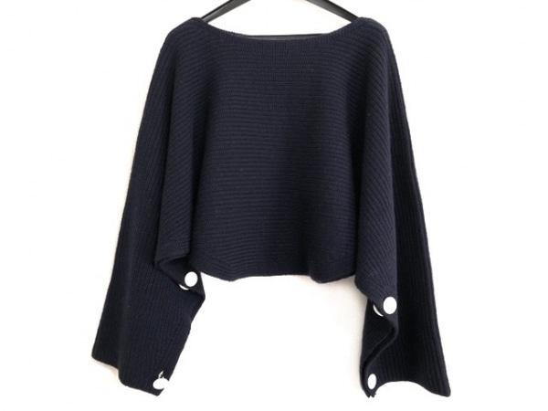 アドーア 長袖セーター サイズ38 M レディース美品  ダークネイビー ショート丈