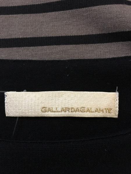 ガリャルダガランテ ワンピース サイズF レディース 黒×ブラウン ボーダー