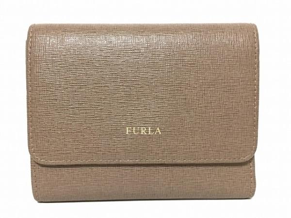 FURLA(フルラ) 3つ折り財布 ダークブラウン レザー