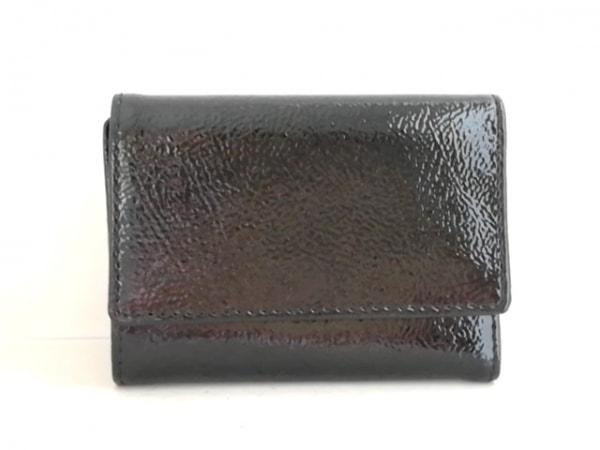 BECKER(ベッカー) 3つ折り財布 黒 エナメル(レザー)