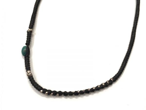 Chan Luu(チャンルー) ネックレス美品  レザー×シルバー×カラーストーン 黒×マルチ
