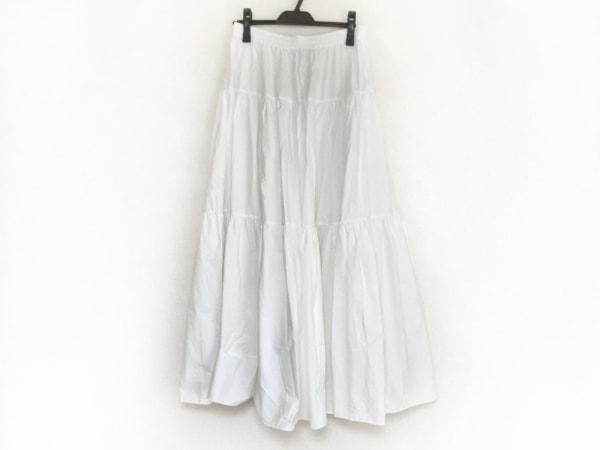 CalvinKlein(カルバンクライン) ロングスカート サイズM レディース美品  白