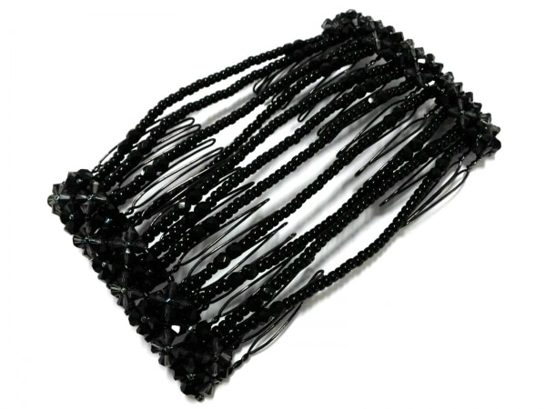 コンプレックスビズ アクセサリー美品  ビーズ×金属素材 黒×ダークグレー×シルバー