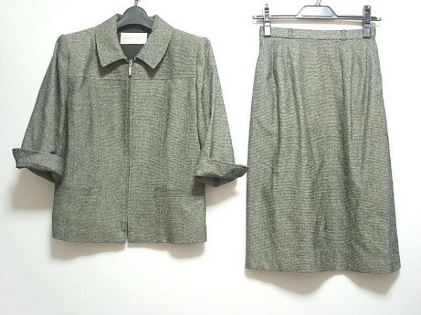 CARVEN(カルヴェン) スカートスーツ サイズ38 M レディース 黒×グレー