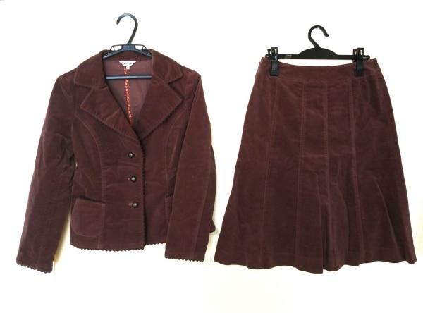 MUSEE D'UJI(ミュゼドウジ) スカートスーツ レディース美品  ボルドー