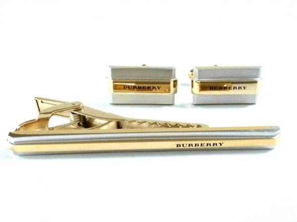 バーバリーロンドン アクセサリー新品同様  金属素材 シルバー×ゴールド
