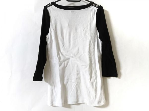 RalphLauren(ラルフローレン) 七分袖カットソー サイズM レディース美品  白×黒