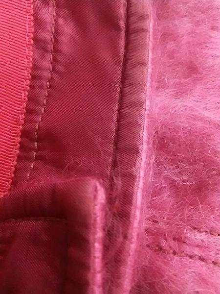 COACH(コーチ) 帽子 M/L美品  ピンク 毛×ナイロン×綿×ポリエステル