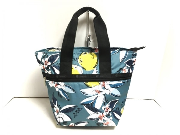 LESPORTSAC(レスポートサック) ハンドバッグ ネイビー×マルチ 花柄 レスポナイロン