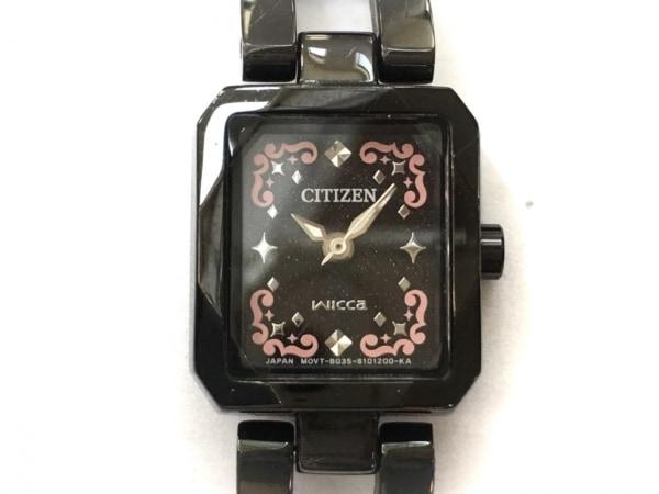 CITIZEN(シチズン) 腕時計 wicca B035-S0068321 レディース 黒