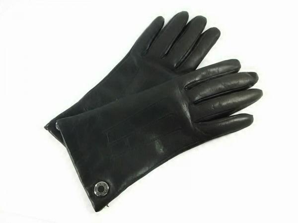 COACH(コーチ) 手袋 7 レディース ダークブラウン レザー