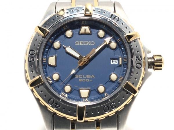 SEIKO(セイコー) 腕時計 SCUBA 7N35-6060 メンズ ネイビー