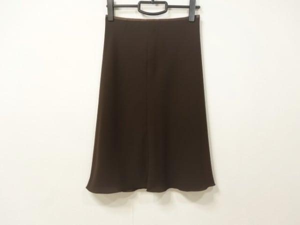 TO BE CHIC(トゥービーシック) スカート サイズ40 M レディース美品  ダークブラウン
