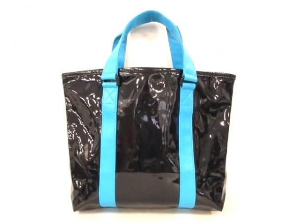 マークバイマークジェイコブス トートバッグ美品  - 黒×ライトブルー