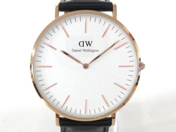 ダニエルウェリントン 腕時計美品  - B40R2 レディース 革ベルト 白