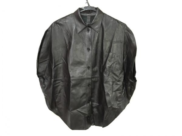 MM6(エムエムシックス) ノースリーブシャツブラウス レディース 黒 レザー