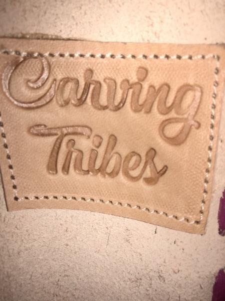 Carving Tribes(カービングトライブス) ハンドバッグ ピンク 型押し加工 レザー