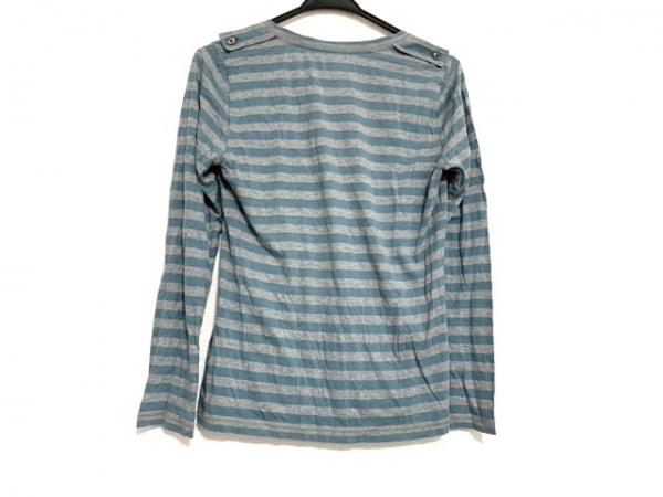 バーバリーロンドン 長袖Tシャツ サイズ2 M レディース美品  グレー×ブルー ボーダー