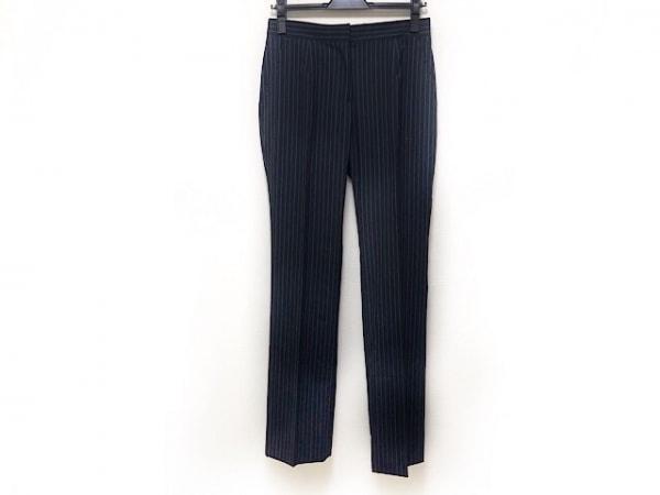 Kiton(キートン) パンツ サイズ39 レディース 黒×ブルー×白 ストライプ