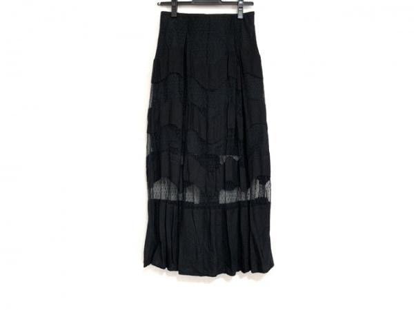 furfur(ファーファー) ロングスカート サイズF レディース美品  黒 レース