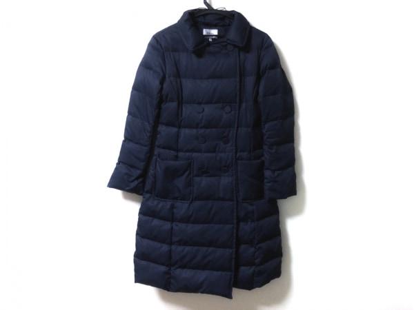 49アベニュージュンコシマダ ダウンコート サイズ38 M レディース美品  ネイビー 冬物