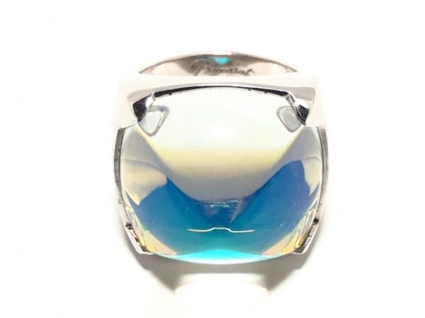 Baccarat(バカラ) リング シルバー×クリスタルガラス クリア×マルチ サイズ:55