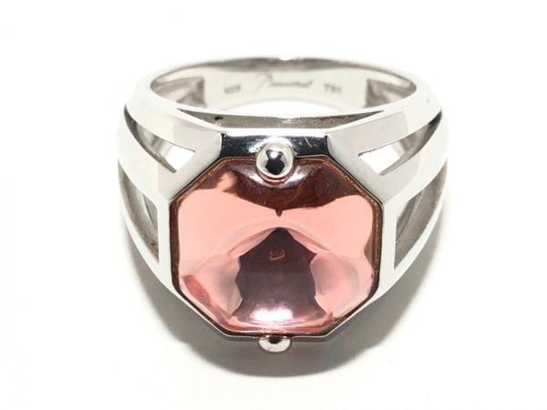 Baccarat(バカラ) リング シルバー×クリスタルガラス ピンク サイズ:51