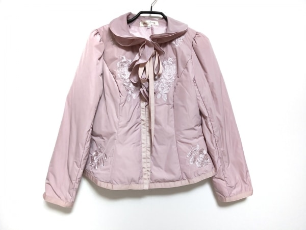 スーパービューティー ダウンジャケット サイズ40 M レディース美品  ピンク