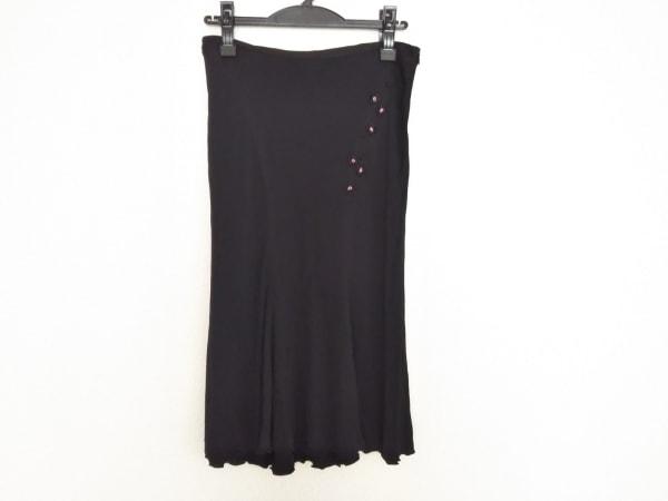 ANNA MOLINARI(アンナモリナーリ) スカート サイズ36 S レディース 黒 ビーズ