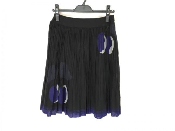 ソニアリキエル スカート サイズ38 M レディース 黒×ネイビー×ライトグレー