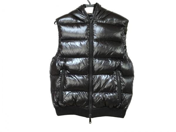 コムサメン ダウンベスト メンズ美品  黒×ダークグレー×グレー 冬物/リバーシブル