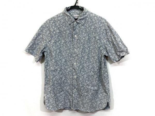 DRESSTERIOR(ドレステリア) 半袖シャツ サイズM メンズ ブルー×白 花柄