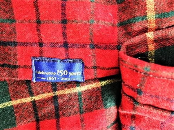 ペンドルトン 長袖シャツ サイズL メンズ レッド×グリーン×ベージュ チェック柄