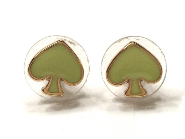 Kate spade(ケイトスペード) ピアス美品  金属素材 ライトグリーン×ゴールド