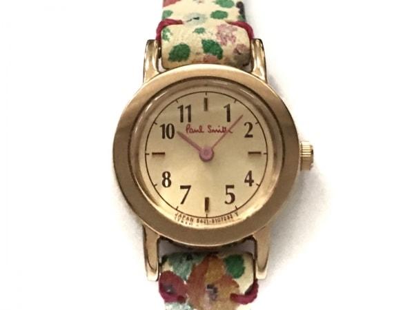 PaulSmith(ポールスミス) 腕時計 5421-S107232 レディース 革ベルト/花柄 ゴールド