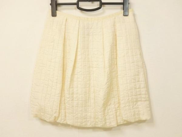 ラルフローレン スカート サイズ2 S レディース美品  アイボリー キルティング