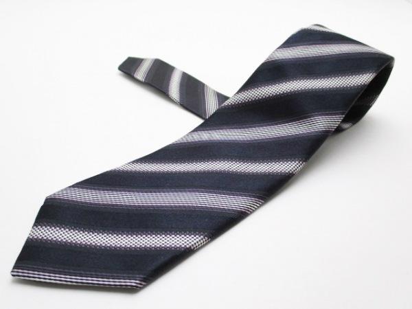PaulSmith(ポールスミス) ネクタイ メンズ美品  黒×パープル×マルチ 斜めストライプ