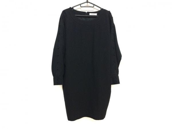 ADORE(アドーア) ワンピース サイズ38 M レディース美品  - - 黒 長袖/ひざ丈