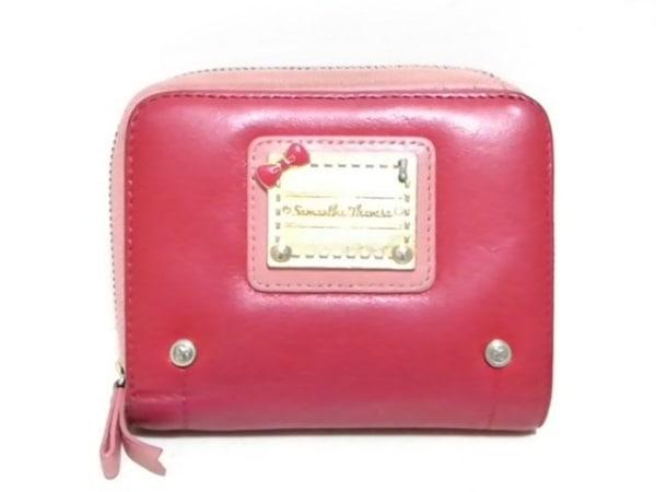 Samantha Thavasa(サマンサタバサ) 2つ折り財布 レッド×ピンク 合皮