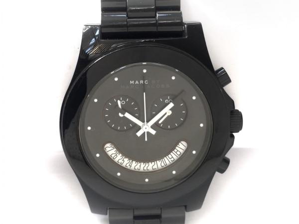マークジェイコブス 腕時計 MBM4574 レディース クロノグラフ 黒