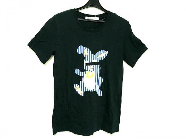 アンダーカバー 半袖Tシャツ サイズ2 M メンズ 黒×アイボリー×ブルー×マルチ