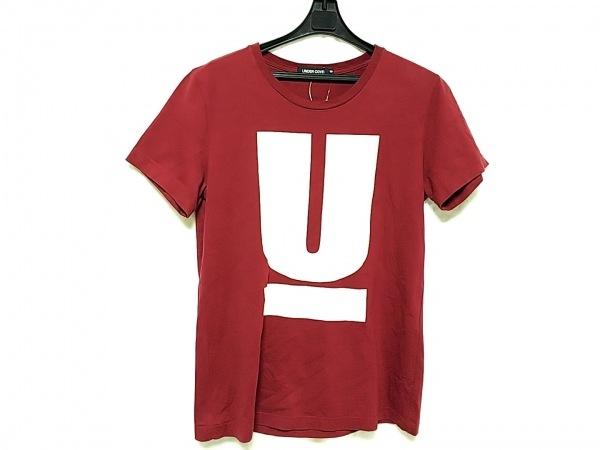 アンダーカバー 半袖Tシャツ サイズS メンズ ボルドー×ベージュ JUN TAKAHASHI